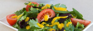 Mango-Papaya Vinaigrette over Greens
